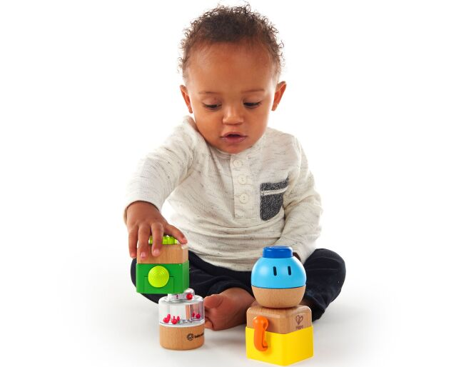 Hape Four Fundamentals Wooden Sensory Set