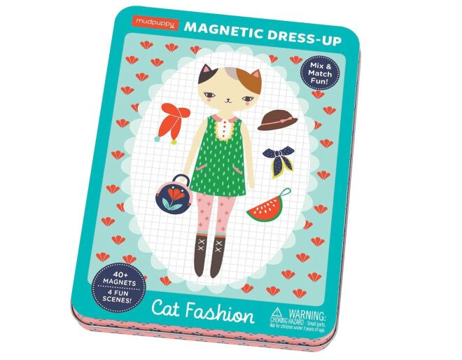 Cat Fashion Magnetic Dress Up Set