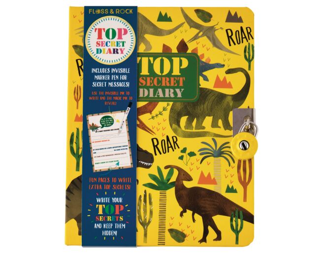 Top Secret Lockable Dinosaur Diary