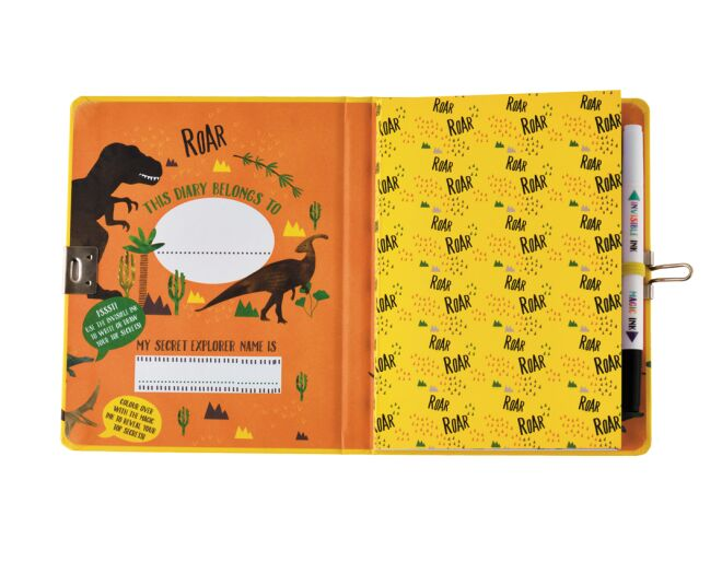 Floss and Rock Top Secret Lockable Dinosaur Diary