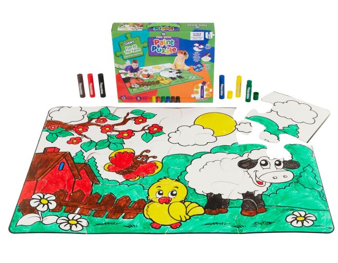 Giant Fun At The Farm Floor Painting Puzzle