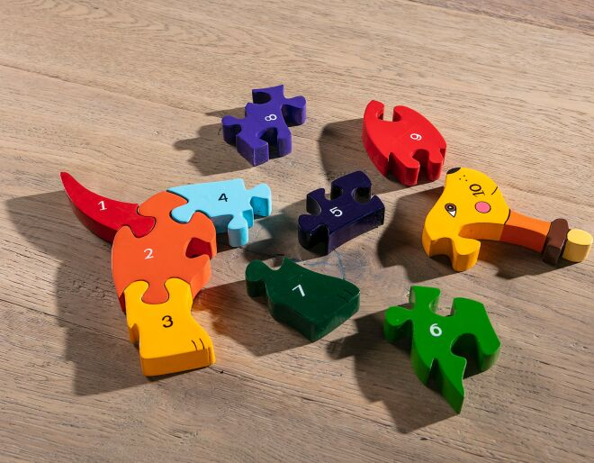 Wooden Dog Jigsaw
