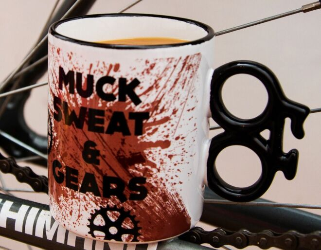 Muck Sweat and Gears Cycling Mug