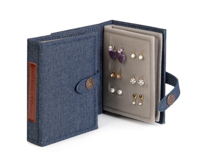 Little Book of Earrings Denim