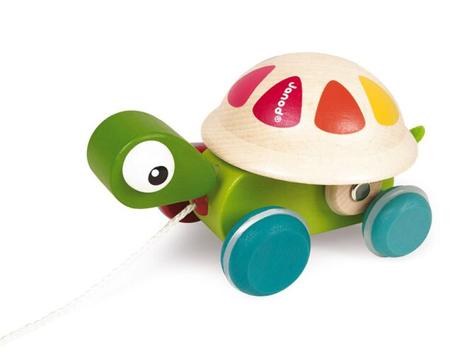 Wooden Pull Along Turtle