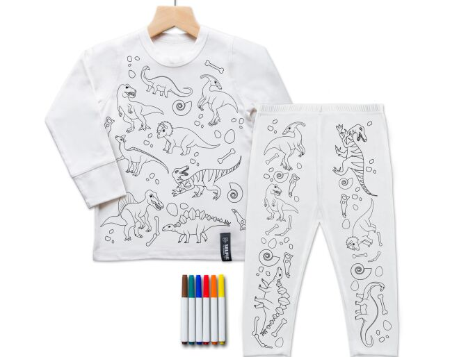Dinosaur Colour In PJ's