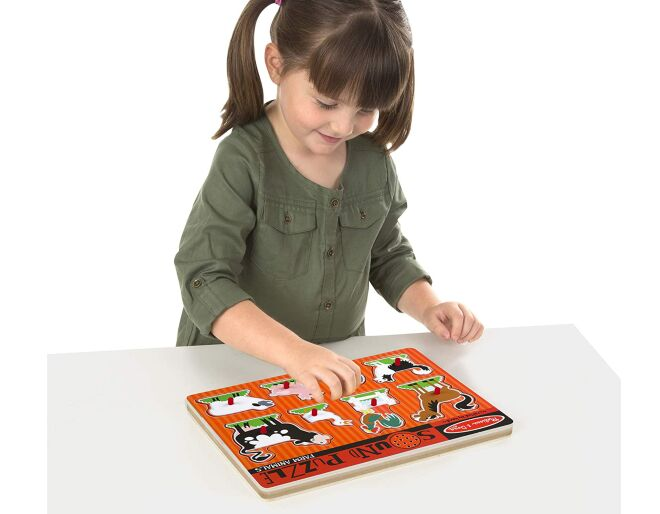 Melissa and Doug Farm Sound Puzzle Lifestyle