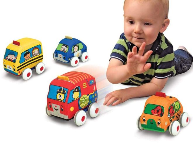 Melissa and Doug Pull Back Town Vehicles