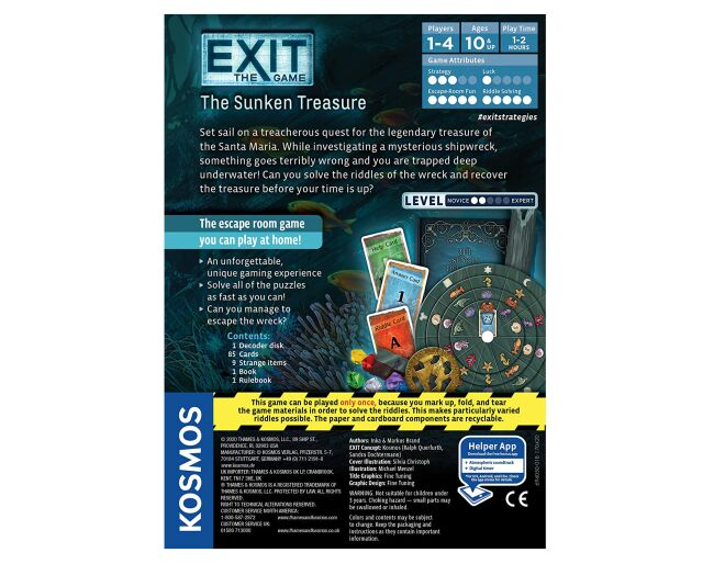 Thames and Kosmos The Sunken Treasure Exit Game