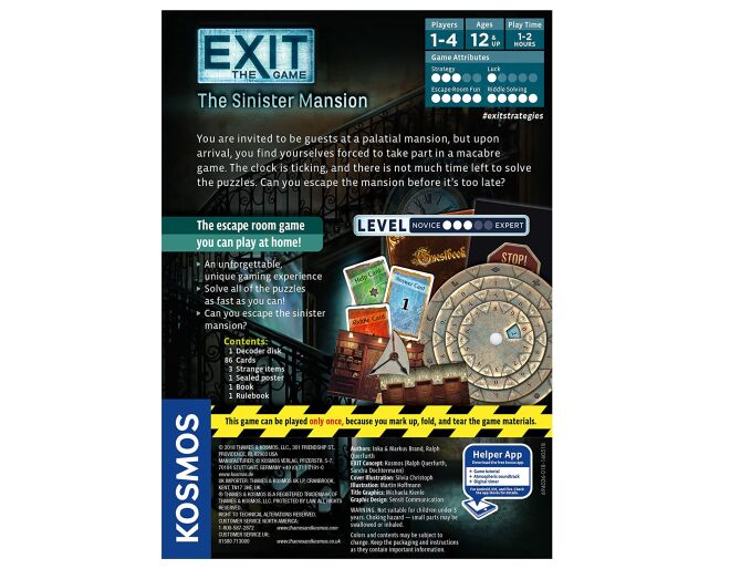 Thames and Kosmos The Sinister Mansion - Exit Game
