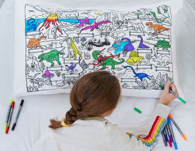 Dinosaur Pillowcase - Doodle Your Own