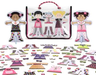 Magnetic Wooden Dress Up Dolls