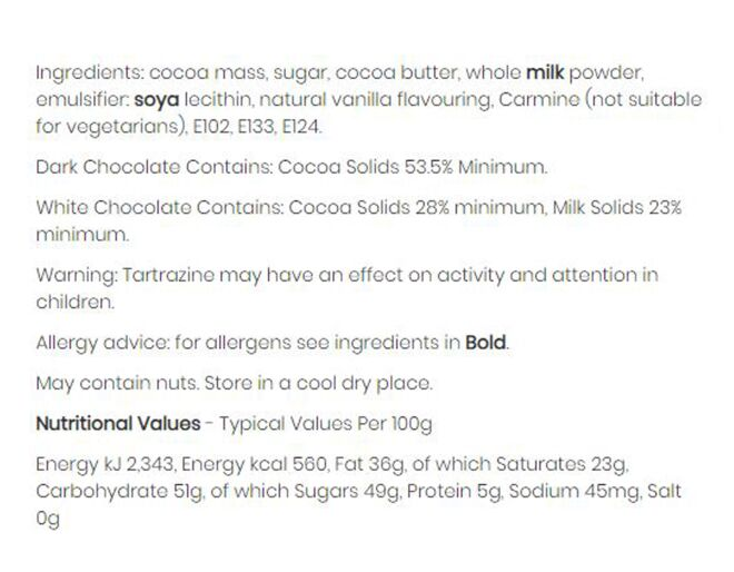 Vegetable Chocolate Ingredients