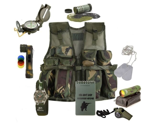 Kids Army Fully Loaded Combat Vest