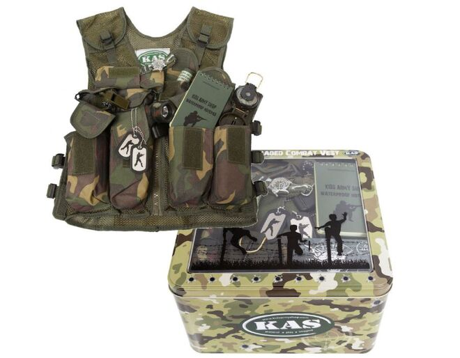 Kids Army Fully Loaded Combat Vest Contents