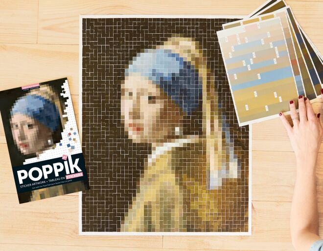 Girl with the Pearl Earring Creative Poster