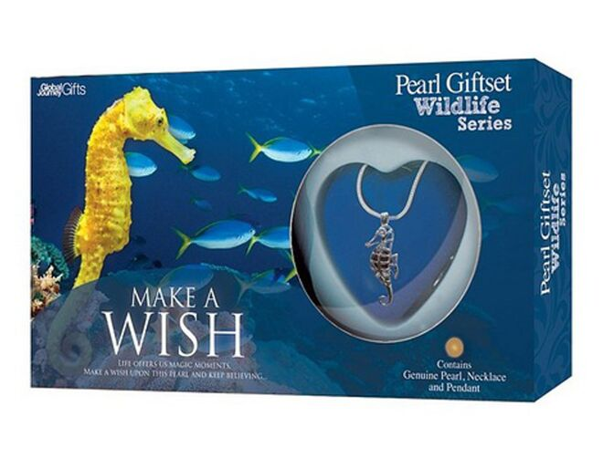 Seahorse Make A Wish Pearl Necklace