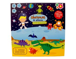 Dinosaurs & Aliens Stamp Set