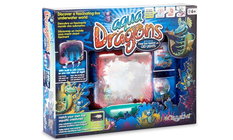 Illuminated Aqua Dragons Packaging