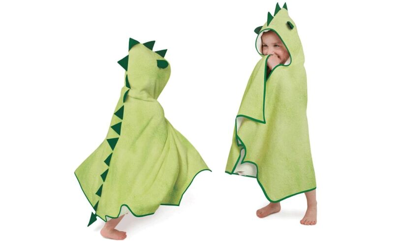 Dinosaur hooded bath robe - Cuddleroar!