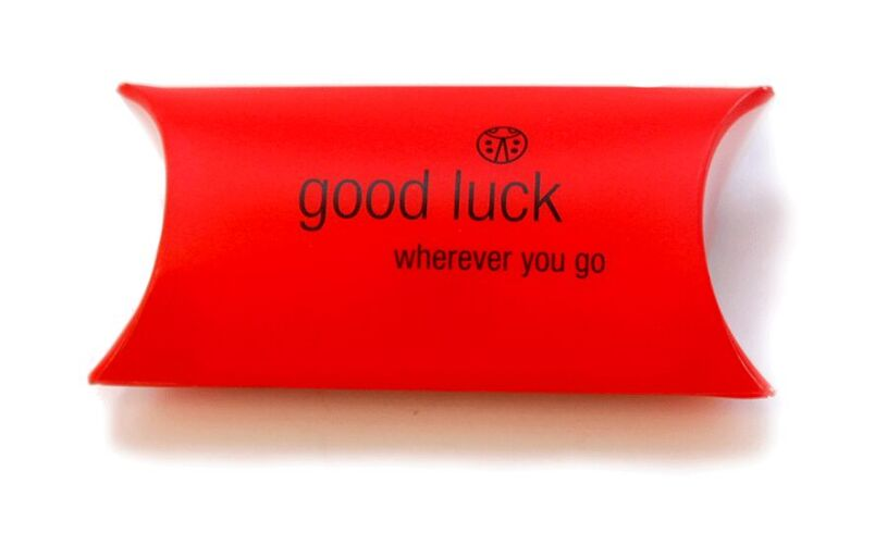 Good Luck Ladybird Charm Packaging