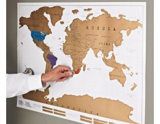World Scratch Map - for intrepid travellers