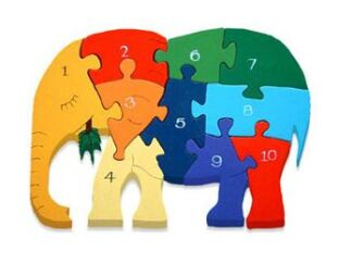 Number Elephant Jigsaw