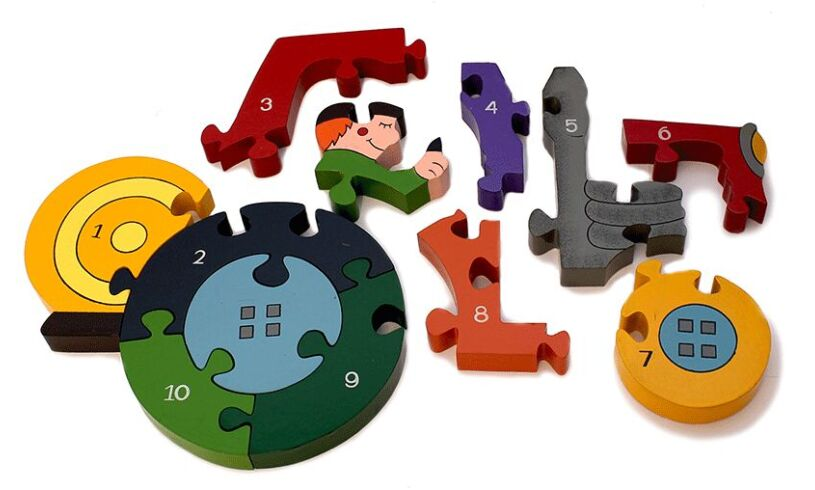 Tractor Jigsaw Pieces