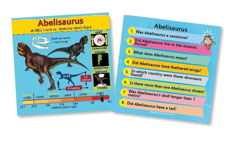 Dinosaurs Junior Brainbox Memory Game Cards